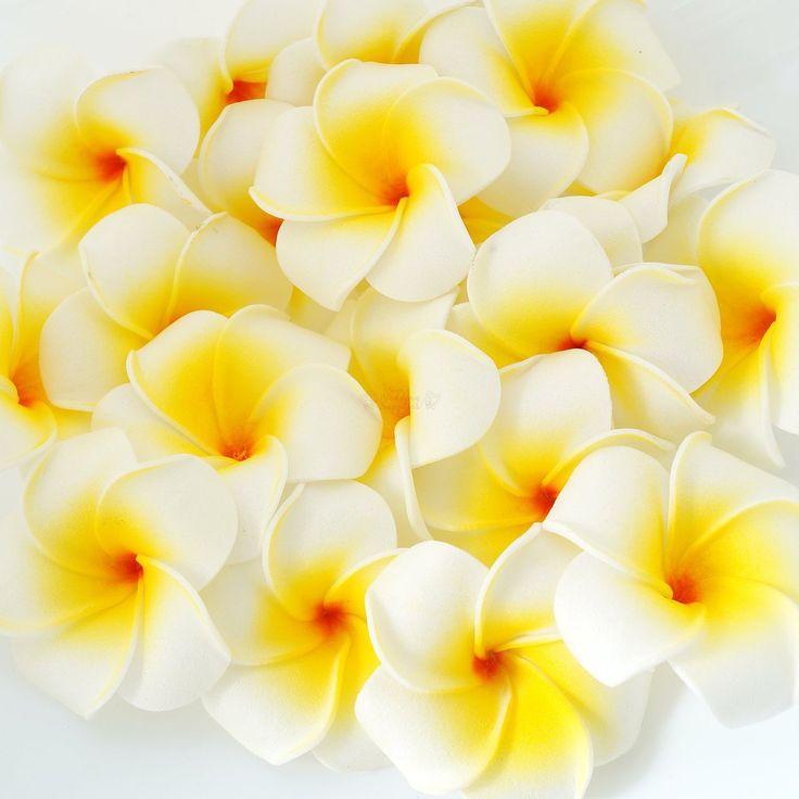 Foam Frangipani Flowers   Wedding Supplies