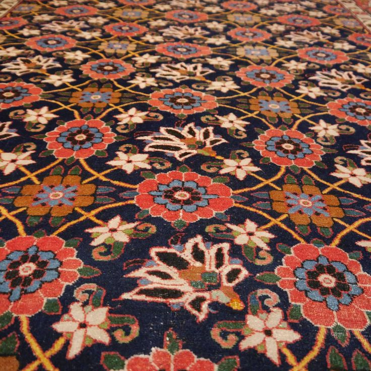 Fine Veramin Vintage Midcentury Rug | From a unique collection of antique and modern persian rugs at https://www.1stdibs.com/furniture/rugs-carpets/persian-rugs/