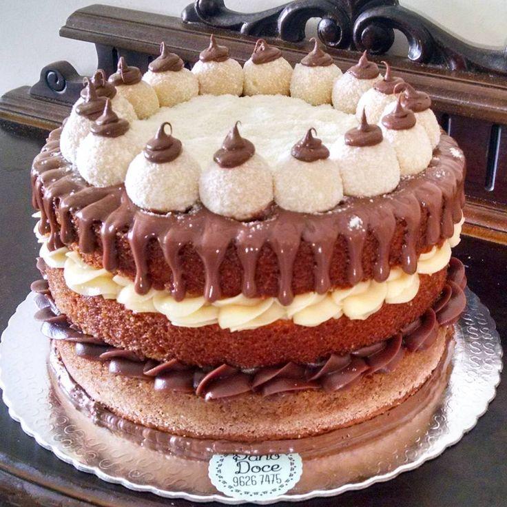 Muito 158 best Bolo Naked Cake images on Pinterest | Chocolates, Conch  MQ04