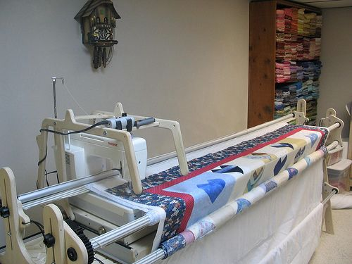 This site has some good troubleshooting tips for long-arm and mid-arm quilting machines...helped me quickly figure out what was wrong with mine this morning after hours of trying to follow the manufacturer's few suggestions...
