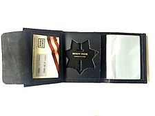New CHP California Highway Patrol Badge Police Wallet tri Fold Leather Recessed