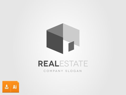 Abstract House Real Estate Logo (Vector)