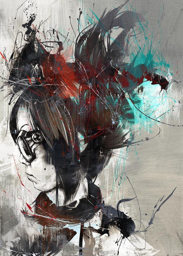 Russ Mills- interesting portraits, would be a good way to do a self portrait (possible lesson idea)