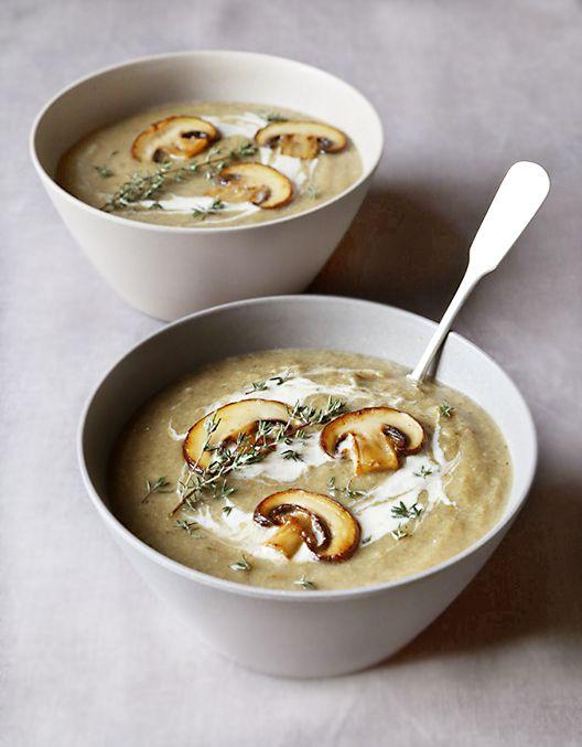 Pilzsuppe, anstelle des Weißweins kann man auch selbstgemachte Gemüsebrühe…