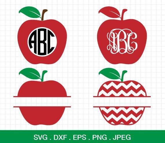 Apple Svg Chevron Apple Svg Apple Monogram Svg Teacher Svg Etsy Cricut Projects Monogram Svg Apple Silhouette