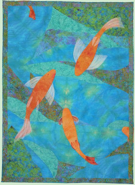 1000 images about koi art etc on pinterest terry o for Koi pond quilt pattern