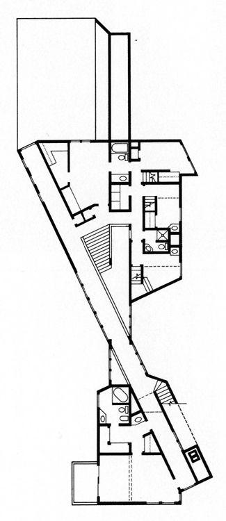 Charles W. Moore, Stern House, Plan, Woodbridge, Connecticut, 1970