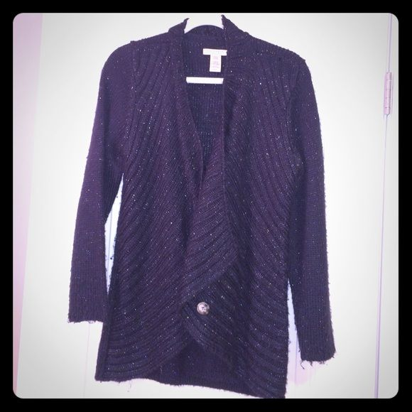 ‼️REDUCED‼️Covington Petite cardigan Black with gold string through it Cardigan Covington Sweaters Cardigans