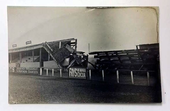 Picture postcard - Hartlepool United FC - Victoria Ground following 1916 Zeppelin raid