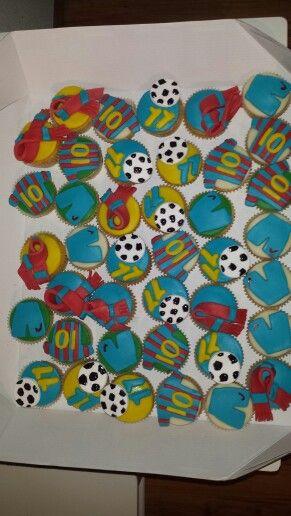 Voetbal barca cupcakes