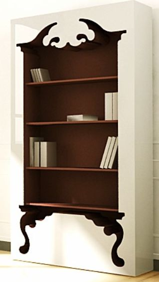 Modern Victorian Bookcase | Made to order by Munkii and featured by The Office Stylist #bookcase #furniture