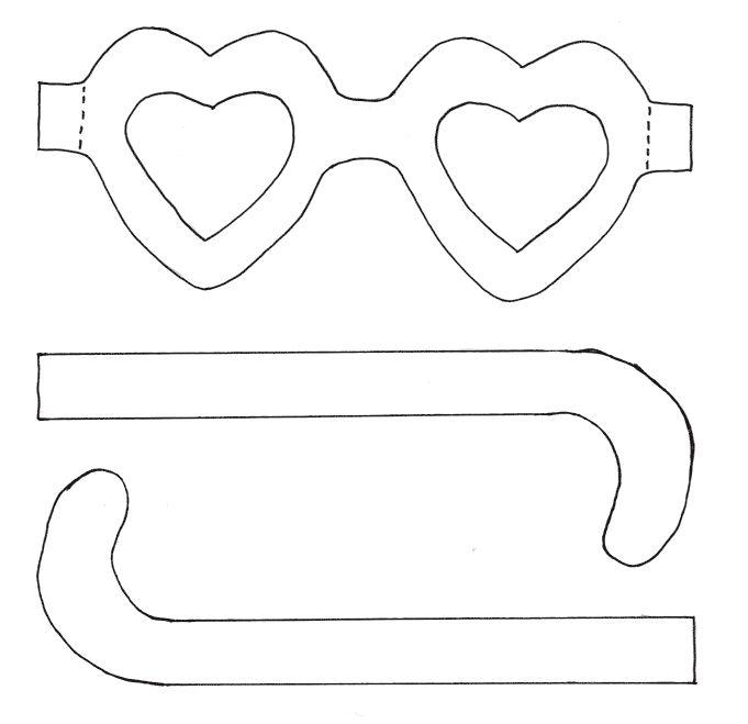 bril knutselen kinderen zoeken valentijnen