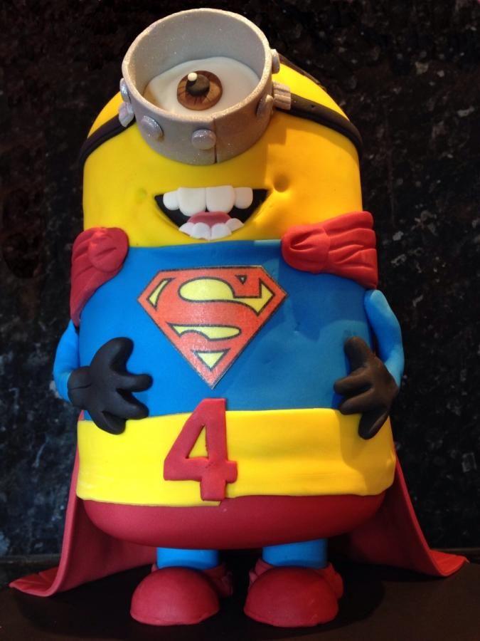 Superhero Minion | Fun Cakes & Cupcakes, Cookies and Cake ...
