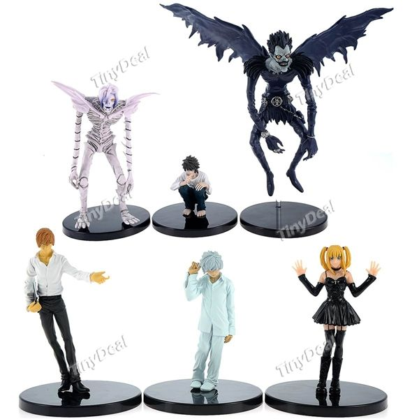 6 X Cartoon Death Note Figure Collection Doll Toy