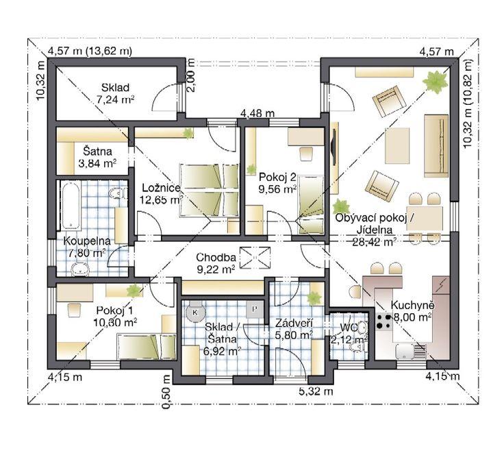 Rodinný dům Harmony 8 – dřevostavba, bungalov na klíč