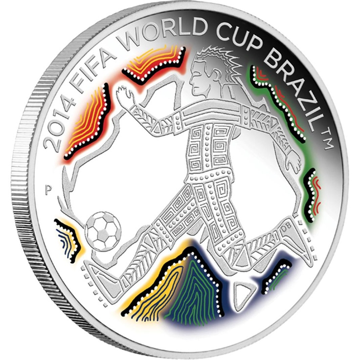 Pure Gold and Silver: 2014 FIFA World Cup Brazil™ 1/2oz Silver Proof - Perth Mint