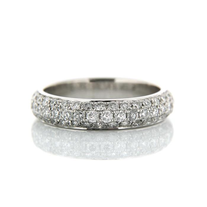 Pave Set Wedding Ring Platinum Pave Set Wedding Ring Product Reference 0411459 #diamondsinternational #love #diamond #ring #weddingring #engaged #wedding
