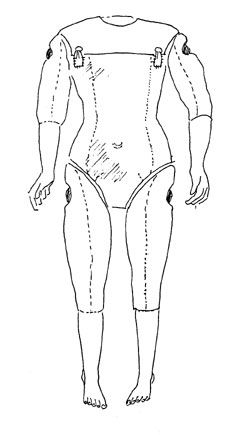 Картинки по запросу the pattern for the body of a porcelain doll