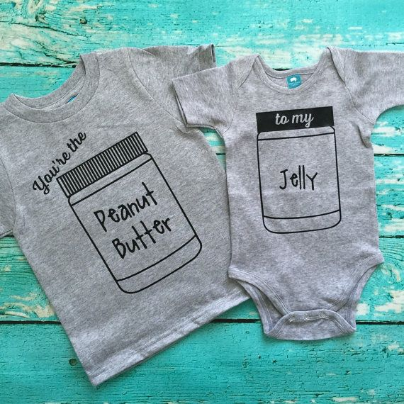 Matching Best Friend Tees Twins You're the Peanut Butter to My Jelly Siblings pregnancy BFF ADD 2 for a SET best friend brothers sisters tee