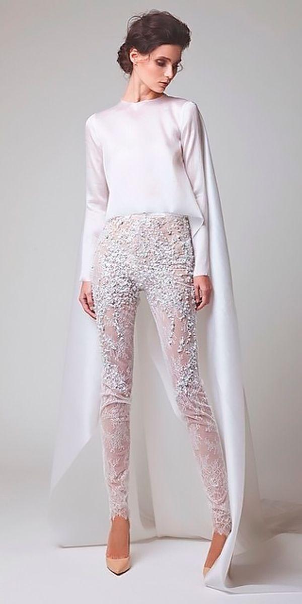 67119d1b578 Trend 2018  24 Wedding Pantsuit  amp  Jumpsuit Ideas ❤ wedding pantsuit  ideas separates illusion