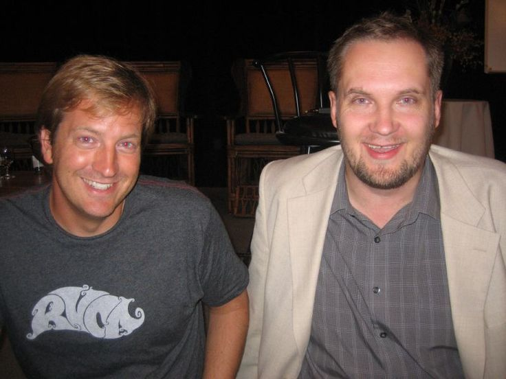 Frank Kern and I, chilling in San Diego... while he still had short hair ;)
