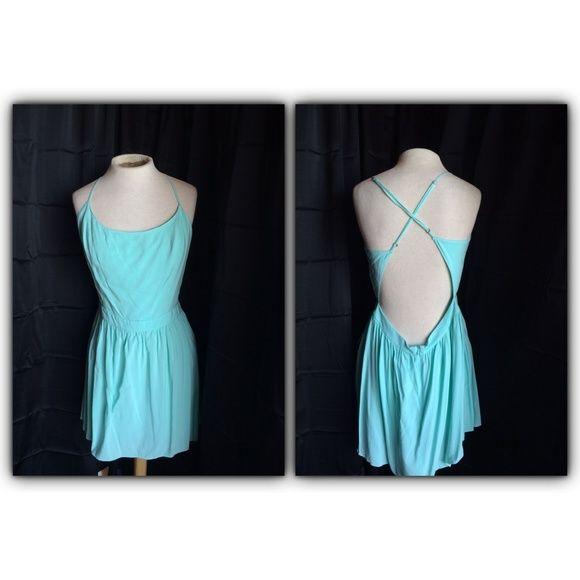 Aeropostale Aqua Blue Dress Aqua blue dress, open back. Aeropostale Dresses