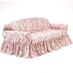shabby chic slip covers ~ I want this on my sofa right now!