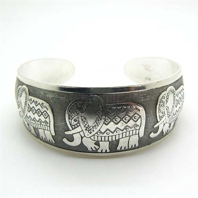 $10 Platinum Alloy Elephant Cuff Bracelet