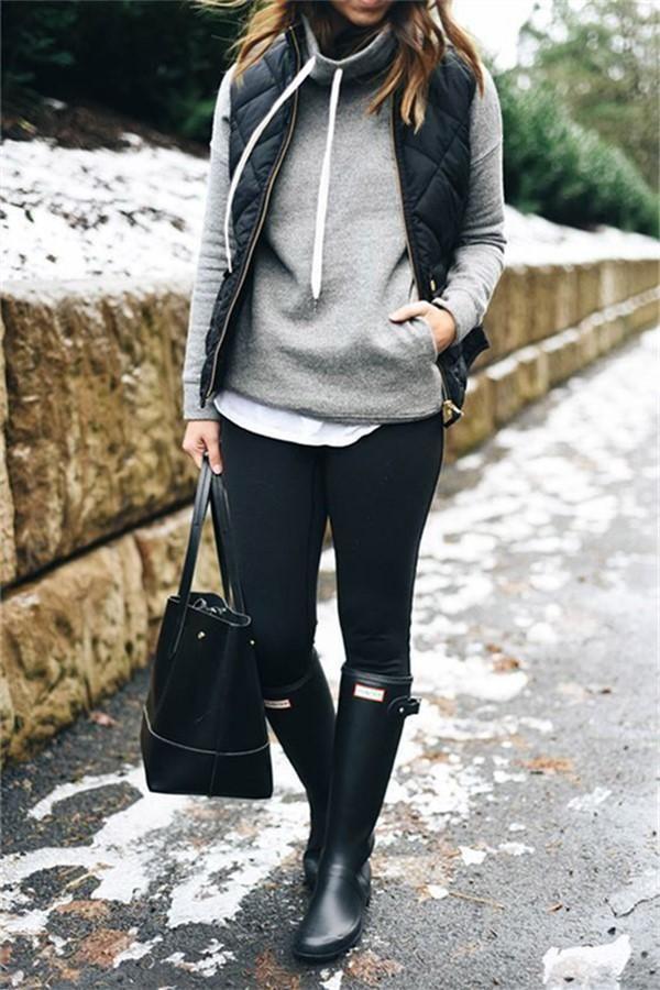 Casual Fashion Pure Color Stand Up Collar Pocket Cotton Vest #Joygos #vestswomen…
