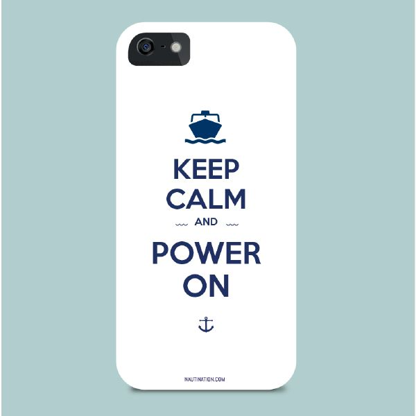 Smart Phone Cover - Keep Calm and Power On | Nautination gifts for sailors…