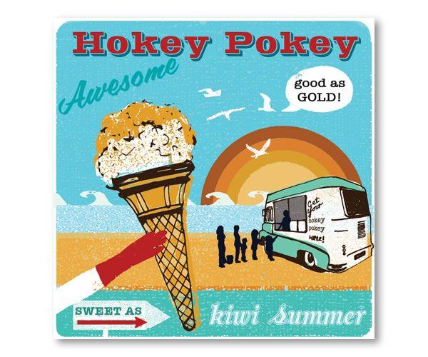 Hokey Pokey $27.50 30x30cm print