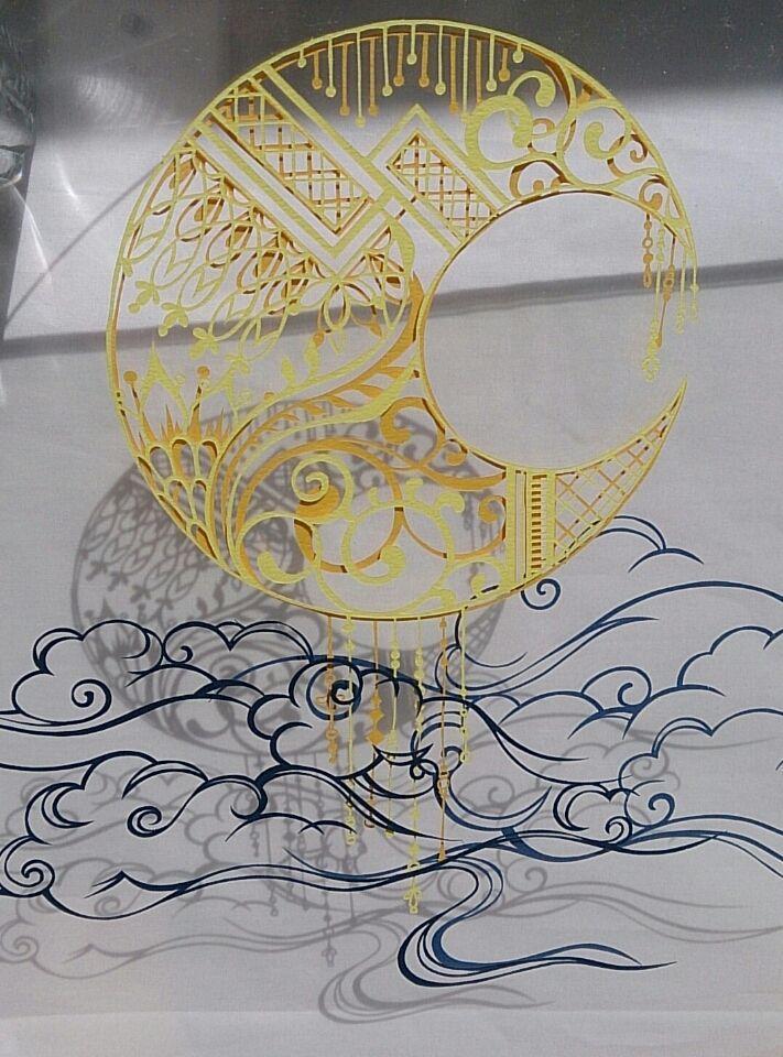 切り絵「花鳥風月」雲|コトコト切り絵中