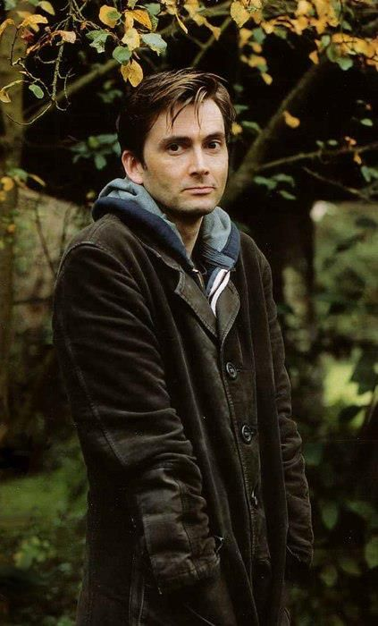 David! Imagine walking around in autumn with him beside you...
