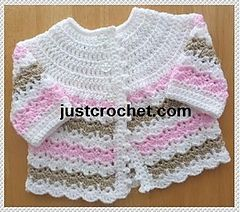 cutest wavy crochet baby coat (0-3M)