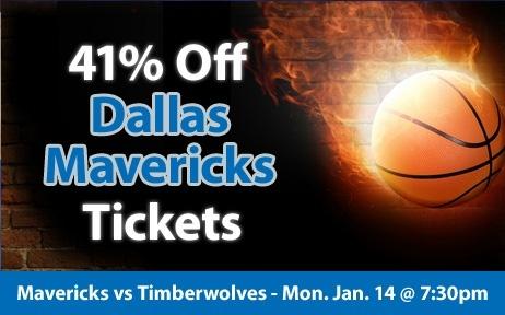 $22 (41% off) Dallas Mavericks Tickets vs Minnesota Timberwolves Mon. Jan. 14 @ 7:30pm - Crowd Seats Cheap Sports Tickets