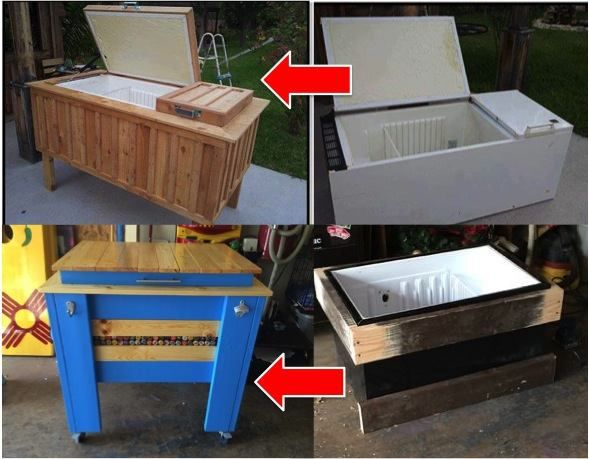 DIY Refrigerator Ice Chest Cooler Tutorial