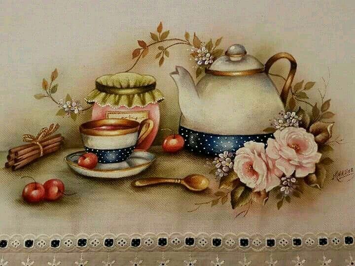 Картинки винтажное чаепитие
