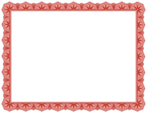 Fancy red border for creating award certificates. Free ...