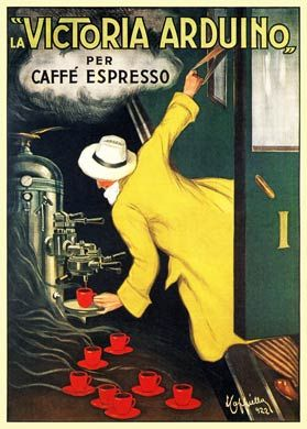 Vintage Italian Posters ~ #illustrator #Italian #posters ~ Victoria Arduino, 1922  Italian coffee