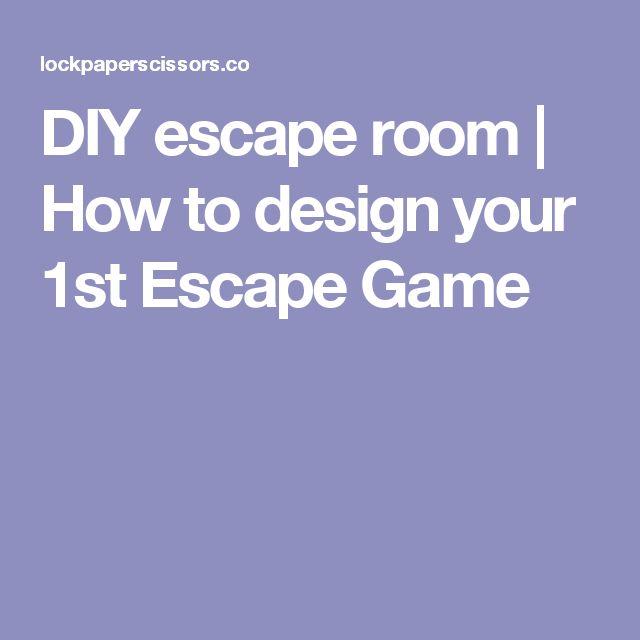 Diy escape room how to design your 1st escape game for Escape room design