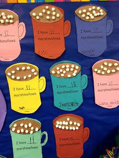 "I love this activity and I would add ""I ate __ marshmallows and had __ left."""