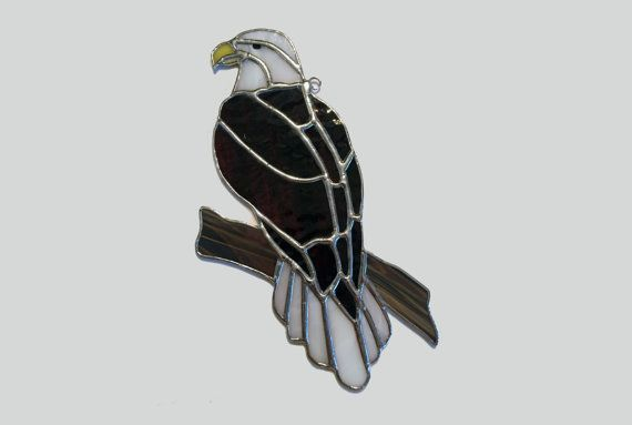 Handmade Stained Glass Bald Eagle Large by QTSG on Etsy