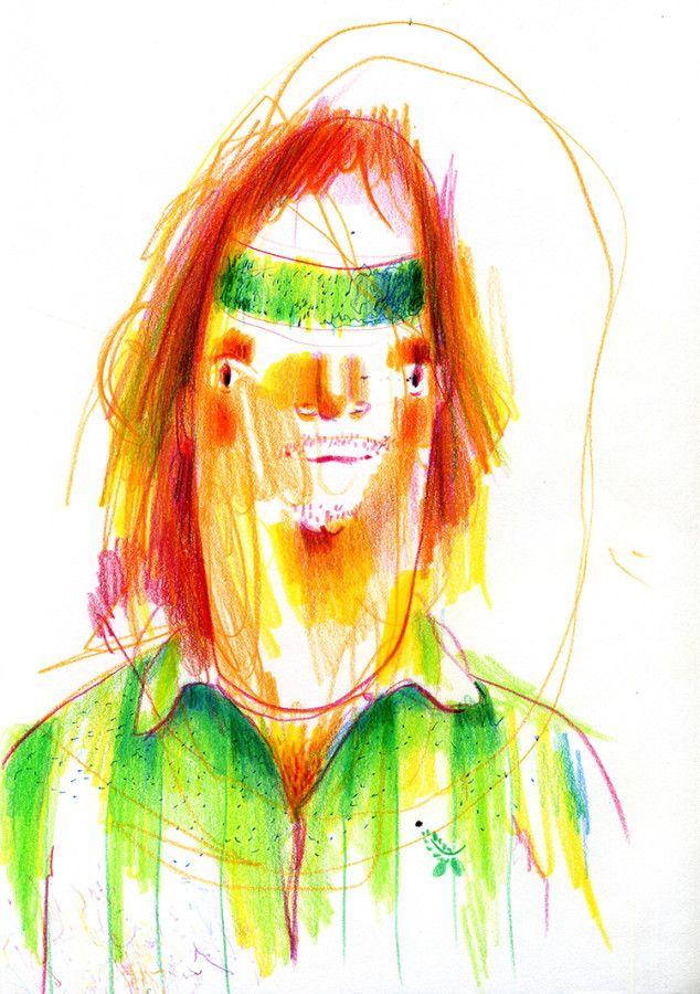 doodle portrait - die erse kritzelei 2017
