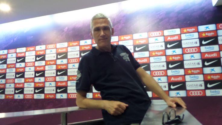 Press room at FC Barcelona