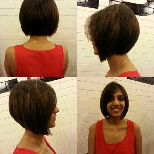 heart shaped blunt cut hairstyle