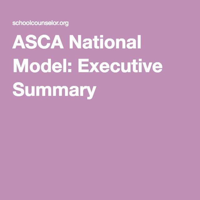 ASCA National Model: Executive Summary