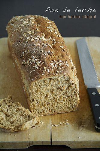 Pan para desayuno, comida, merienda y cena   pan de leche con harina integral - amiloquemegustaescocinar
