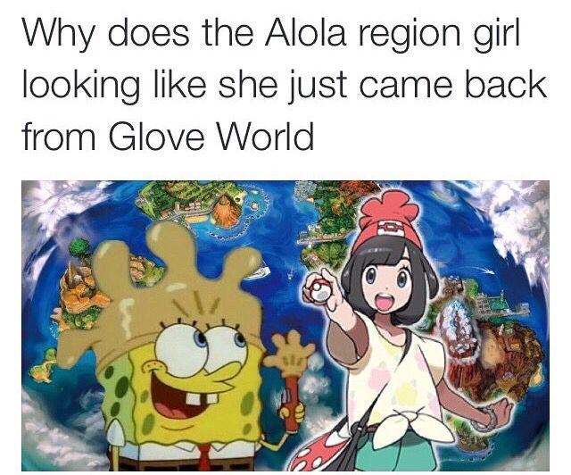 Pokemon Sun and Moon - Female Trainer went to Glove World.