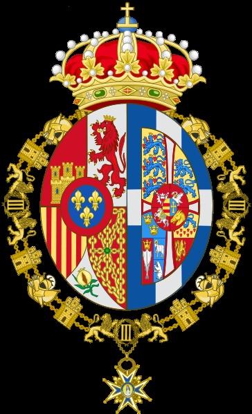 ESPAÑA_Reina de / Armas de Doña Sofía, Princesa de Grecia y de Dinamarca, Reina consorte de España 1975-2014.