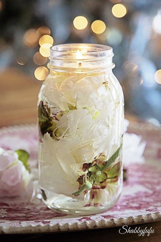 DIY Mason Jar Oil Candle Craft Home Decor @shab                                                                                                                                                                                 More